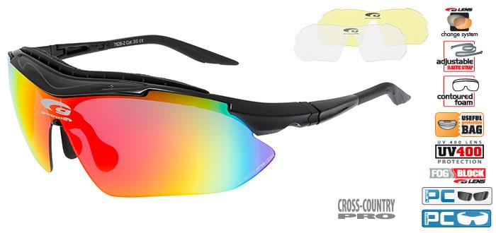 Ochelari de soare Goggle T626 Singlez, cu lentile de schimb