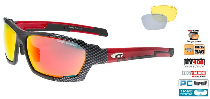 Ochelari de soare Goggle T441 Clizz, cu lentile de schimb