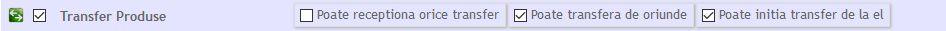 alocare drept de transfer la utilizatori
